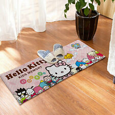 Hello Kitty Non-slip Kitchen Bathroom Floor Room Mat Skidproof Door Plush Rugs