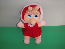 "1987 Baby Miss Piggy Christmas 11"" Plush Stuffed By Jim Henson Associates Inc."