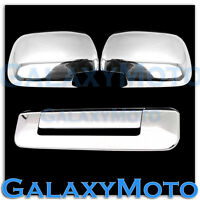 05-11 TOYOTA TACOMA Triple Chrome plated Mirror+Tailgate handle no Camera Cover