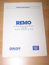 REMO – Presseheft ´86 - FRED WARD