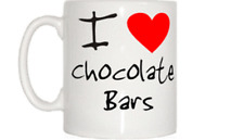 I Love Heart Chocolate Bars Mug