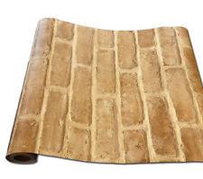 Tapete selbstklebend Ziegelstein mauer Stein Fliesenspiegel Vinyltapete 50x190cm