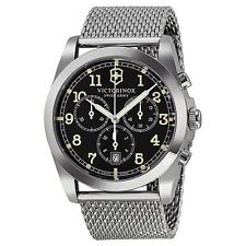 NEW  Victorinox Swiss Army 241589 Infantry Chronograph Black Dial chrono  Watch