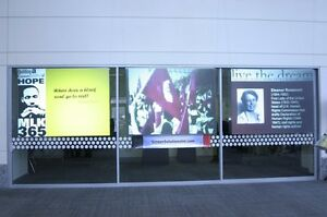 Rear Projection Screen Material, Adhesive Window Film Storefront Widow Advertise