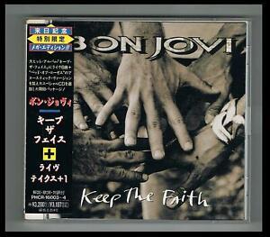 Bon Jovi  ** Keep The Faith **  /  CD + Live CD ' 92  / Japan Press.