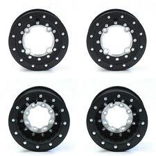 """Hiper Tech 3 Beadlock 10"""" Front 10"""" Rear Wheels Rims Black TRX 700XX TRX700XX"""