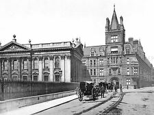 CAMBRIDGE CAIUS COLLEGE AND SENATE HOUSE ENGLAND OLD BW PHOTO POSTER 329BWLV