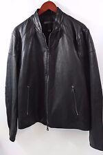 John Varvatos Collection Double Zip Moto Jacket Size 42  retail $2,295 plus tax