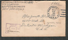 WWII censor cover Pvt Edward Mikulski Co D 351st Engrs APO 872 Morley Hall UK