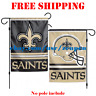 "New Orleans Saints Logo Garden Outdoor Flag Double Sides 12x18"" NFL 2019 Fan NEW"