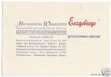 Scheda rappresentante, fa. meccaniche Tupolev Erzgebirge, Venere montagna Erzgeb., 1948