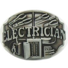 Vintage Electrician Belt Buckle Western Cowboy Native American (ELT-02)