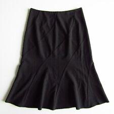 Jacqui E skirt size 10 black angled panels Made in Australia corporate work