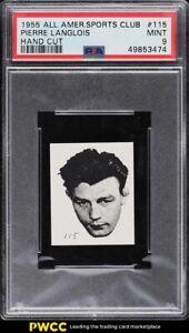 1955 All-American Sports Club Strip Card Pierre Langlois #115 PSA 9 MINT