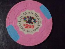 New ListingLucayan Beach Casino $2.50 hotel casino gaming poker chip ~ Bahamas