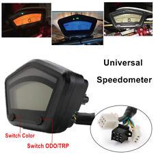 Motorcycle LCD Digital Speedometer Tachometer Odometer Gauge Panel ATV Enduro