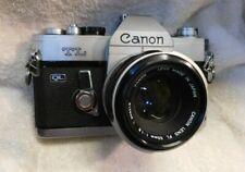 Canon TL QL 35mm Film SLR 50mm 1.8 Lens plus 28mm wide & 135mm Lentar telephoto