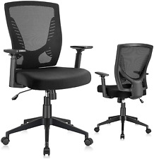 Elabest Office Chair Ergonomic Desk Chair Swivel Task Chair With Adjustable Mid