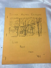 "SIGMA ALPHA EPSILON PURDUE ALUMNI NEWSLETTER,""LION BAIT FROM 48""(CLASS OF 1948)"