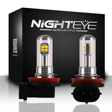 2x Nighteye H11/H8/H9 LED Fog Tail Light Bulbs Car Driving Lamp DRL 6000K Globes