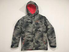 Girl's COLUMBIA Winter Jacket Snow Medium 10/12 Black White Waterproof Insulated