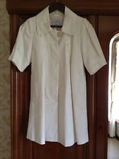Women's Monsoon cream coat new size 8. cropped length sleeve. Button Fastening