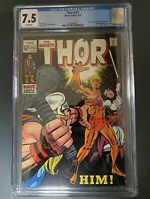 thor 165 CGC 7.5 WHITE PAGES 1st warlock Hot Book!