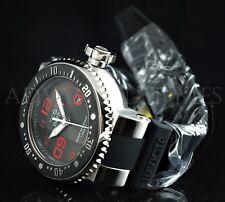 Invicta 52mm Grand Pro Diver Black Dial Red Accent 1000 FT Diver Silicone Watch