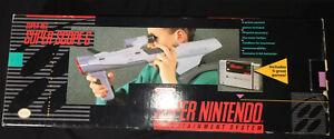 SNES Super Nintendo Super Scope 6 Gun Box Game