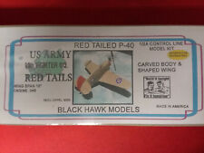 """Black Hawk Models """"Red Tailed P40"""" C/L Model Kit New In Sealed Box For COX .049"""