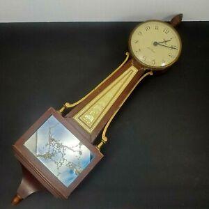 Vintage Seth Thomas Banjo Homestead Style Wall Clock Manual Restoration 25 in.