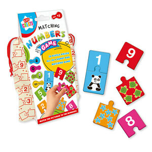 Kids Create Matching Numbers Game Puzzle Bagged Pre-School Kids Toy Ages 3+