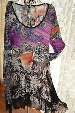 ** CAROLYN MORGAN ***  GORGEOUS PAISLEY  PRINT DRESS SZ 12 **