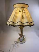 Hummel Vintage table lamp original shade girl Flowers goat tree W. Germany 228