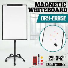 """Mobile Dry Erase Board 29""""x42"""" Magnetic / Single Sided Whiteboard Stand"""