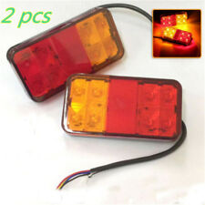 2 pcs DC 12V 8 LED Trailer Lights Tail Lights Trailer Rear Truck Caravan Square