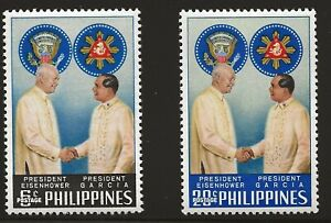 Philippines Scott #823-24, Singles 1960 Complete Set FVF MH