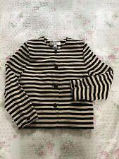Vintage RENA ROWAN For Saville Stripy Blazer Jacket Size 14 VGC