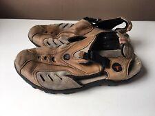 MONTREX men's brown leather comfort sandals EU size 43