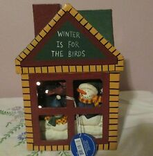 "New Crazy Mountain holiday lighted house with Snowmen ""Winter is for the Birds"""