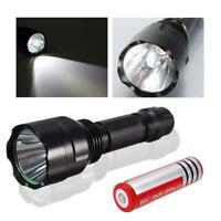 6000 LM  X-XM-L T6 C8 LED Flashlight Zoom Torch Lamp Light + 18650 Battery GA