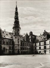 1924 Original SCANDINAVIA Photo Gravure Danish Denmark Helsingor Kronborg Castle
