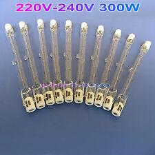 10pcs 220V-240V 300W HALOGEN LIGHT BULB  J TYPE T3 R7S 118mm