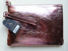 Jack Will POUCH Clutch Bag / Purse Kerton (GENUINE!) Distressed Pink Leather
