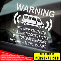 4 x PERSONALISED Van-Internal Stickers-GPS,Courier,Delivery,Transit,Security