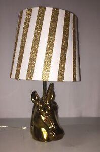 Pillowfort Golden Unicorn Table Lamp Gold Home Decor
