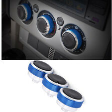 3PCS Blue  Air Conditioning Heat Control Switch AC Knob For Ford Focus MK2 MK3
