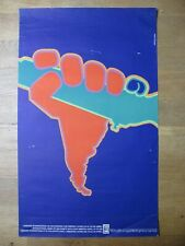 Solidarity with Latin America. OSPAAAL cuban political poster. Original 1970s
