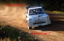 Juha Kankkunen Peugeot 205 Turbo 16 E2 1000 Lakes Rally 1986 Photograph 1