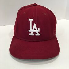 New Era Mens 59Fifty Los Angeles Dodgers Fitted Hat Size 7 5/8 MLB Burgundy Cap